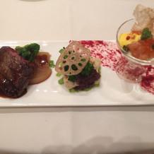 前菜、お魚、お肉