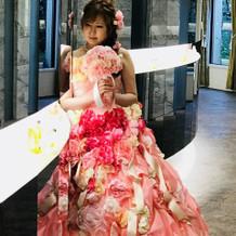 カラードレスです(^^)