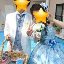 お気に入りの青ドレス~