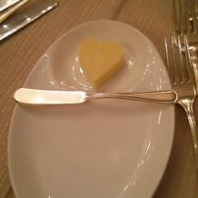バターがハートでかわいい!