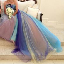 青のグラデカラードレスです。