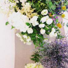 会場のお花がおしゃれでした