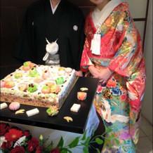 和菓子のケーキかなり好評でした!