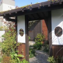 チャペル横の庭園
