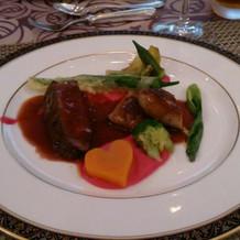 フォアグラとお肉