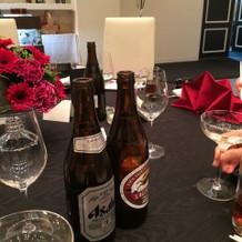 テーブルのセッティングです
