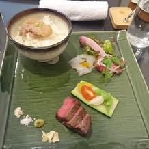 鯛茶漬け、フィレ肉のソテー