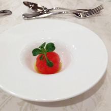 完熟トマトの塩マリネ