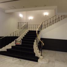 1階スペースの階段