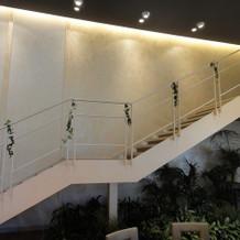 階段での入場ができます