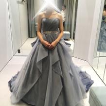 最後まで迷ったカラードレス。素敵でした