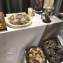 イベントでは装花のサンプル展示があります