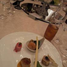 和洋折衷コースの前菜。