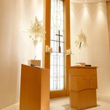 柔らかい雰囲気の教会