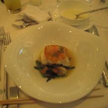 白身魚とトマト