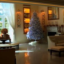ロビーにはクリスマスツリーも。