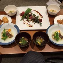結婚式後、新郎新婦が食べたお料理です!