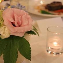 小さい花とキャンドルもありました