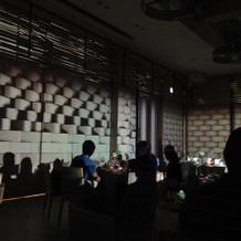 披露宴会場での3Dマッピング演出