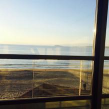 会場からみえる海