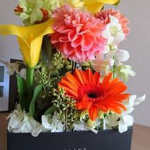 両親贈呈花