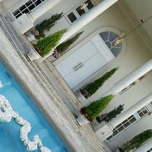 ホワイトハウスのプール。