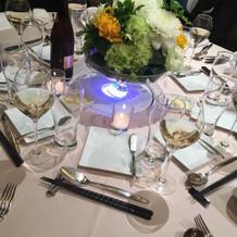 テーブルの飾り付けも綺麗でした