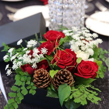 ゲストテーブルのお花。