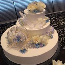 シンデレラモチーフのケーキも好評でした。