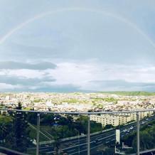 こんなに綺麗な虹が♪
