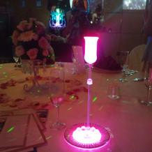 ピンクのキャンドル