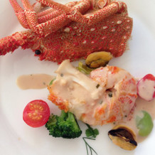 こちらも海老の料理