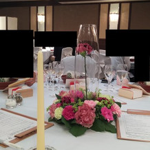 テーブル装飾例