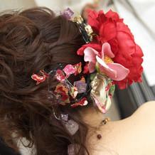 和ドレスの時の髪型