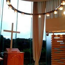 シエルの聖壇はモダンな雰囲気