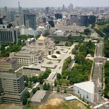 ラウンジからの眺望。国会議事堂も一望の下