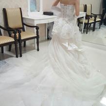 可愛かったマーメイドドレス