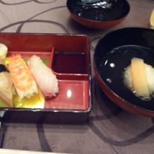 お寿司と椀物