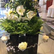 飾ってあるお花も素敵