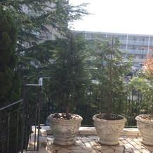 チャペル横からの景色はマンションビュー