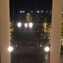 チャペルから出たメイン階段からの景色
