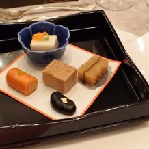 前菜 ごま豆腐等