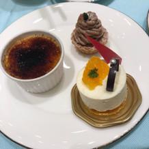 デザートビュッフェのケーキです。