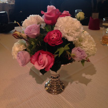テーブル装花です。