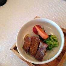 肉料理です。 温かく、優しい味でした。