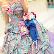 一目惚れしたドレスと大満足のブーケ☆彡