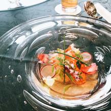 オマール海老を使った前菜
