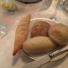 パンの種類が多かった