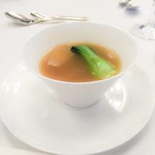 フカヒレのスープです。