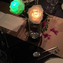 光るプラスチックの薔薇